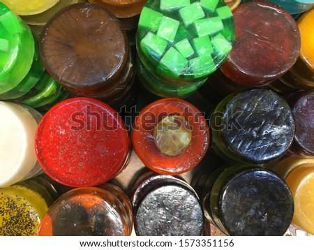 Colorful handmade soap, Diy soap gifts, natural soaps at a shop