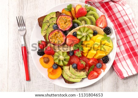colorful healthy breakfast