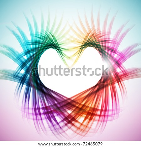Colorful Heart Shape Pattern Design