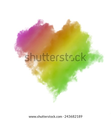 Blue heart shaped clouds on white background Stock Photo, Royalty ...