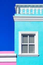 Colorful home architectural window detail