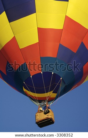 Colorful Hot Air Balloon Lifting Off