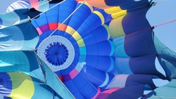 Colorful hot air balloon textures