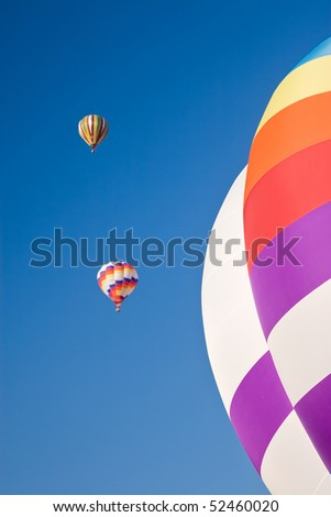 Colorful Hot Air Balloons in Flight.