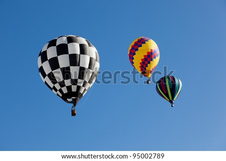Colorful hot air balloons on a sunny day
