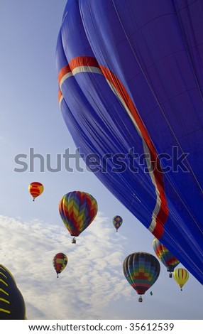 colorful hot air balloons race