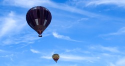 Colorful hot air baloons flying