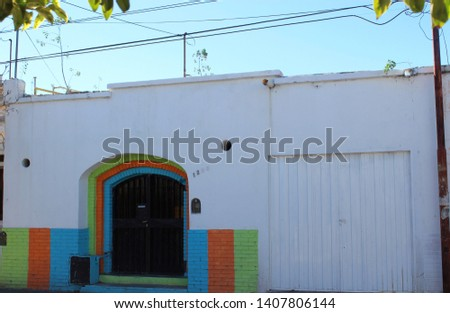 Colorful house with contemporary architecture #1407806144
