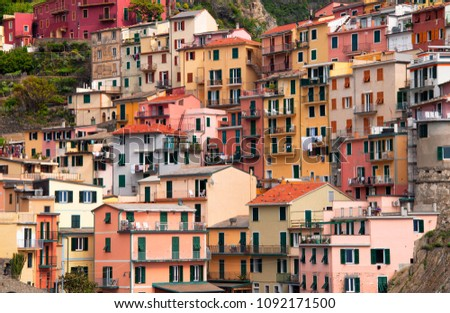 Colorful houses in Manarola, Liguria, Italy