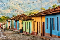 Colorful houses in Trinidad, Cuba