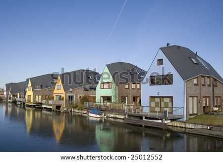 Colorful Houses. Island District, Almere, Netherlands ... Colorful Almere