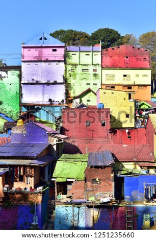Colorful houses of Jodipan Village in Malang City, Central Asia, Indonesia, Asia #1251235660