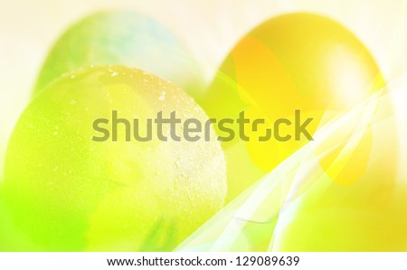 colorful illustration- easter conceptual background