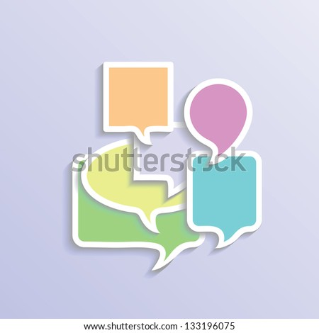 colorful illustration with speech bubbles  for your design