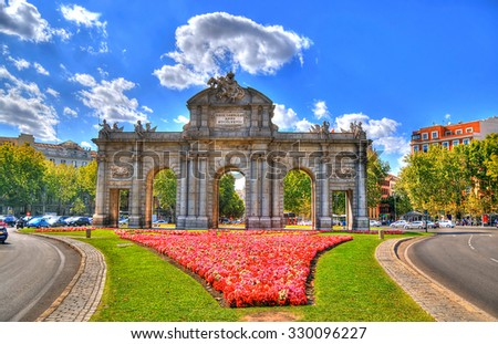 Shutterstock Colorful image of Puerta de Alcala (Alcala Gate) in Madrid, Spain in HDR (high dynamic range)