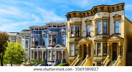 Colorful Italianate Victorian Homes - San Francisco, CA