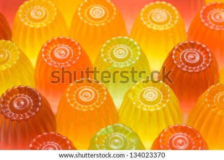 colorful jelly - stock photo