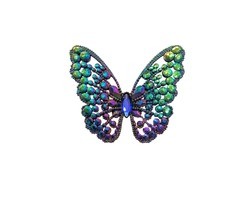 Colorful jeweled gem butterfly