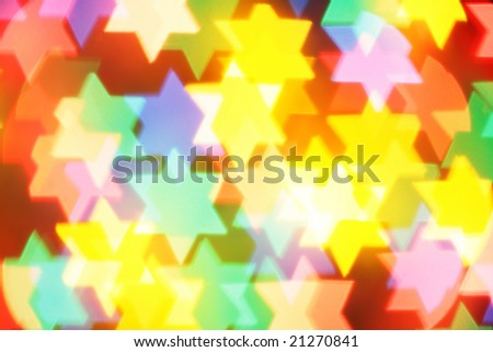 Colorful jewish stars, may be used as background