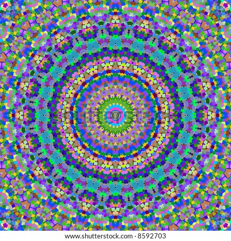 Colorful kaleidoscope squares pattern.