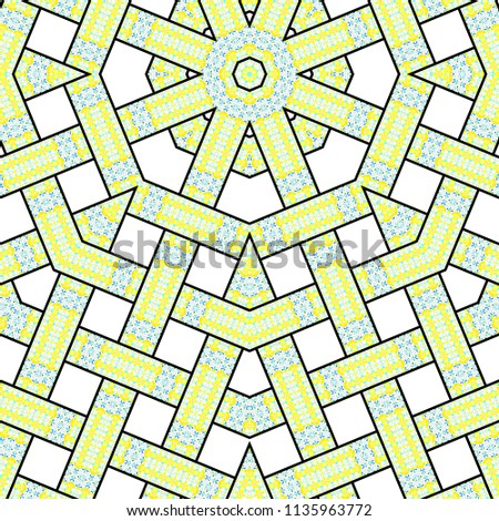 Colorful kaleidoscopic striped pattern for textile, ceramic tiles, wallpapers and design