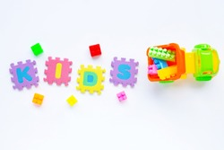 Colorful Kids toys with alphabet