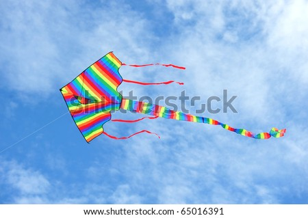 Colorful Kite Against Clear Blue Sky