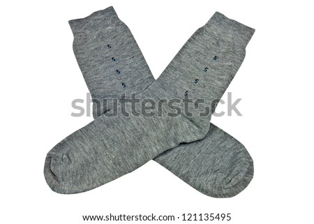 Colorful knitted mens socks isolated with clipping path