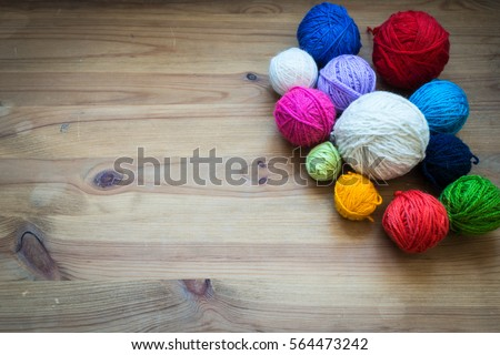Colorful knitting balls - Shutterstock ID 564473242