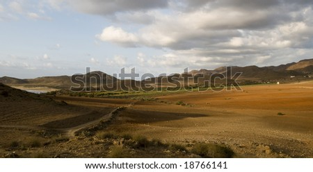 Colorful landscape in andalusia in spain