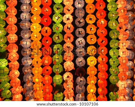 Colorful lanterns on buddha's birthday in Seoul