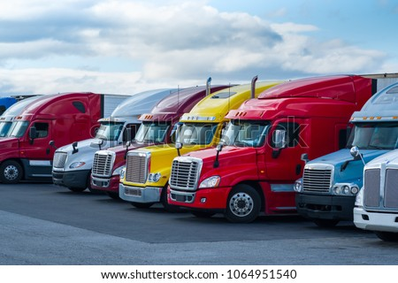 COLORFUL LARGE TRAILER TRUCKS