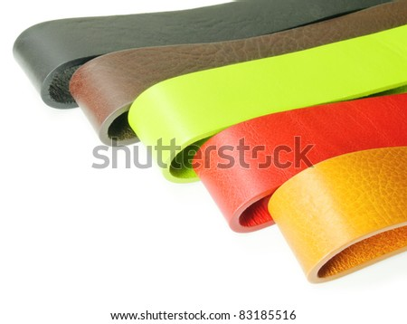 Colorful leather belt