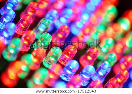 Colorful LED background with dozens transparent LEDs #17512543