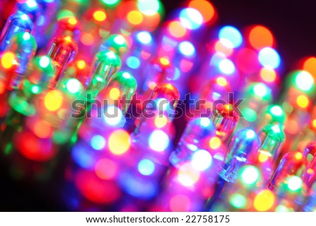 Colorful LED background with dozens transparent LEDs. #22758175