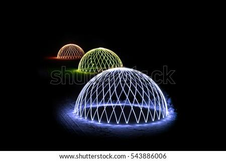 Colorful Light Orbs #543886006