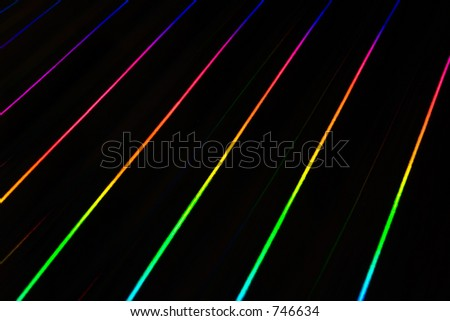 colorful light rays