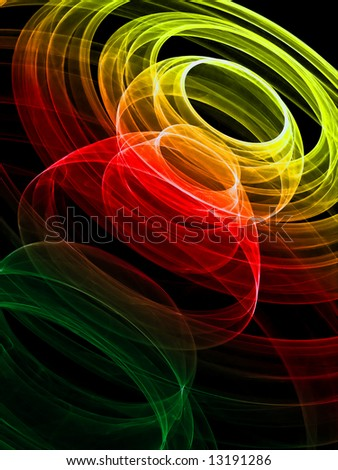 Colorful lights background - stock photo