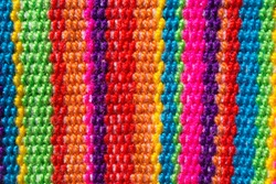 colorful lines knitted fabric texture wool background handmade craft multicolor