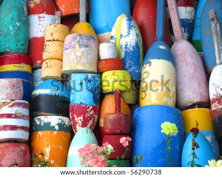 Colorful Lobster Buoys