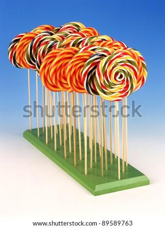 colorful lollipop