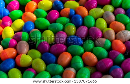 Colorful lucky draw egg ball plastic  Free Images and Photos