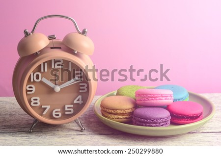 colorful macarons for break times