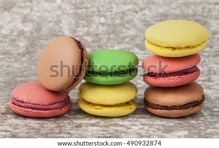 Colorful macaroon / confectionery / cookie  Stok fotoğraf ©