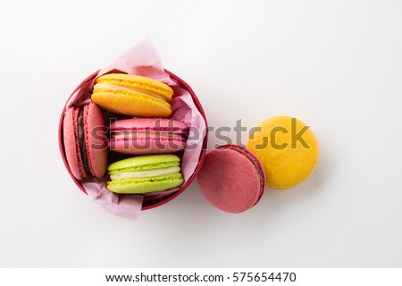 colorful macaroons gift box....