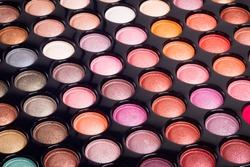 Colorful makeup background. Makeup palette.