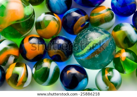 Colorful marble balls as a background
