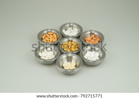 Colorful medications on a light background #792715771