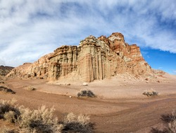 Colorful mesa at Red Rock Canyon in California. Red Rock Canyon State Park