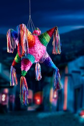 Colorful mexican pinata used in birthdays